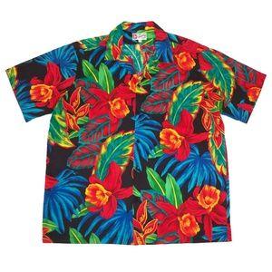 Hilo Hattie XL Hawaiian Tropical Shirt Cotton